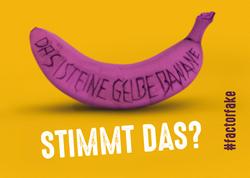 Kartensujet stimmt das - pinke Banane mit Schrift