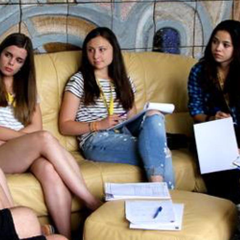 Jugendliche bei der ELJUB