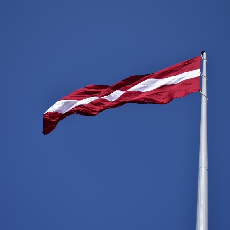 Lettland Flagge