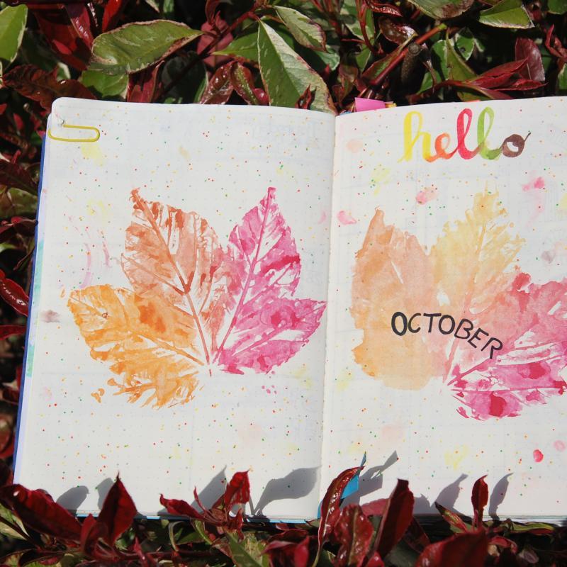 Bullet Journal Herbst