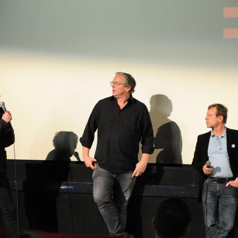 Die Produzenten Wolfgang Knöpfler und Walter Köhler im Publikumsgespräch