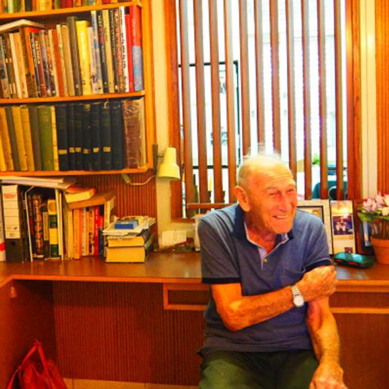 Chaim Miller beim Interview