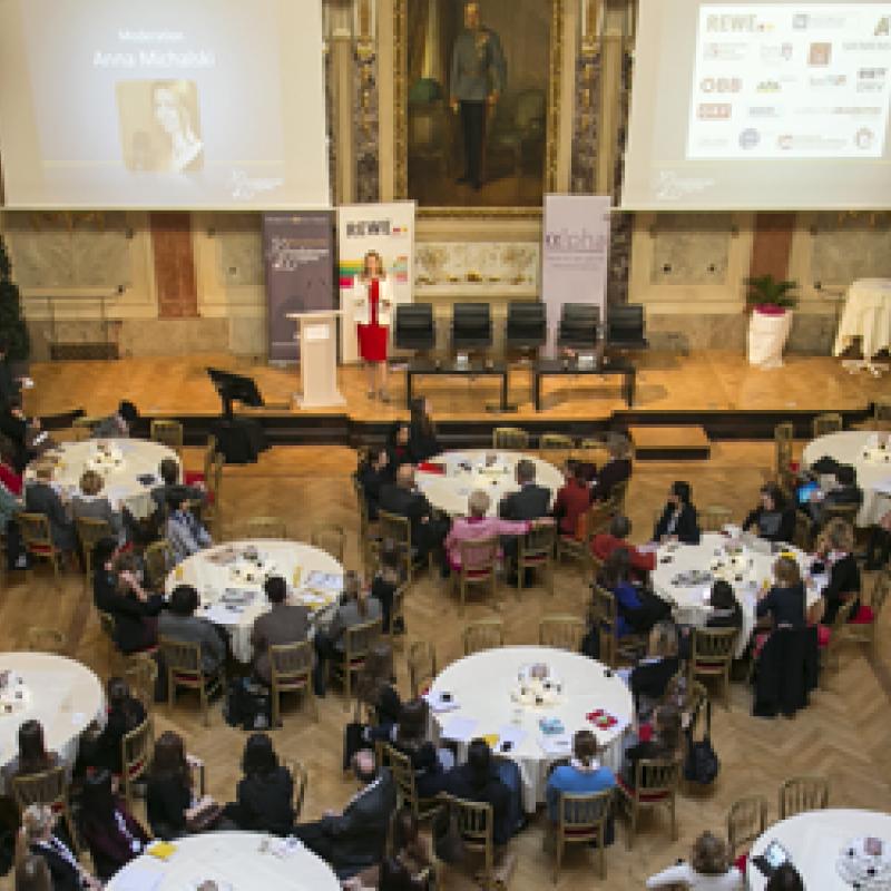 Ein Blick auf den Festsaal beim Journalistinnenkongress