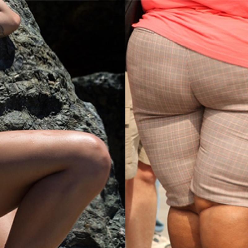 dünner Körper, dicker Körper