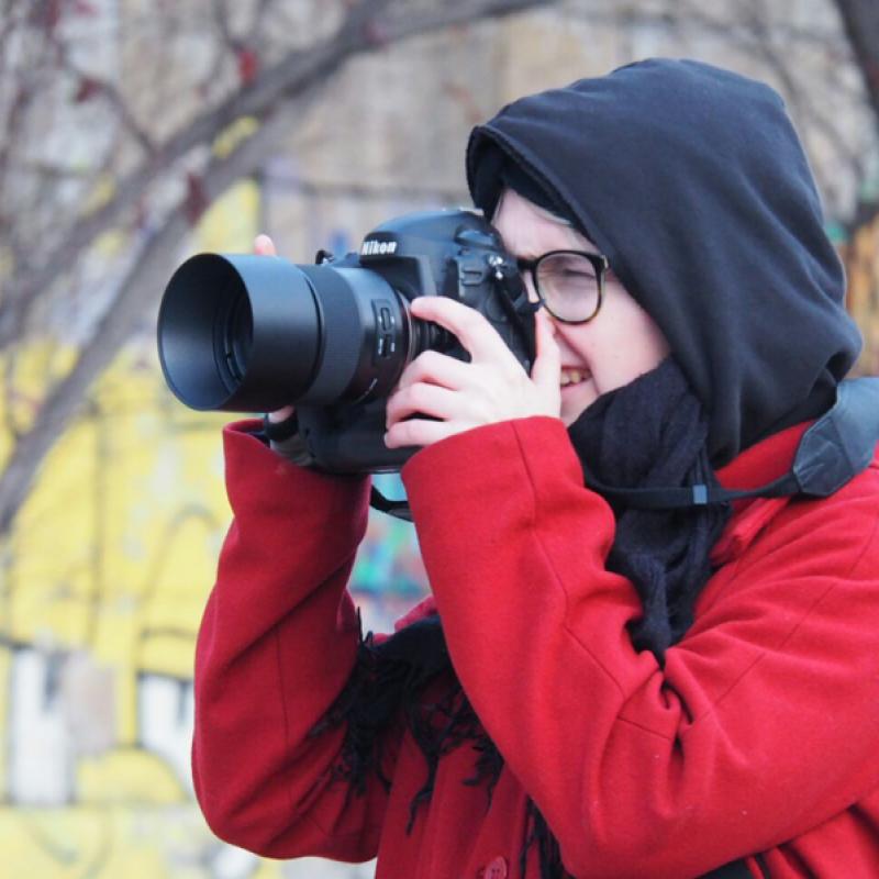 Anna Lena beim Fotografieren