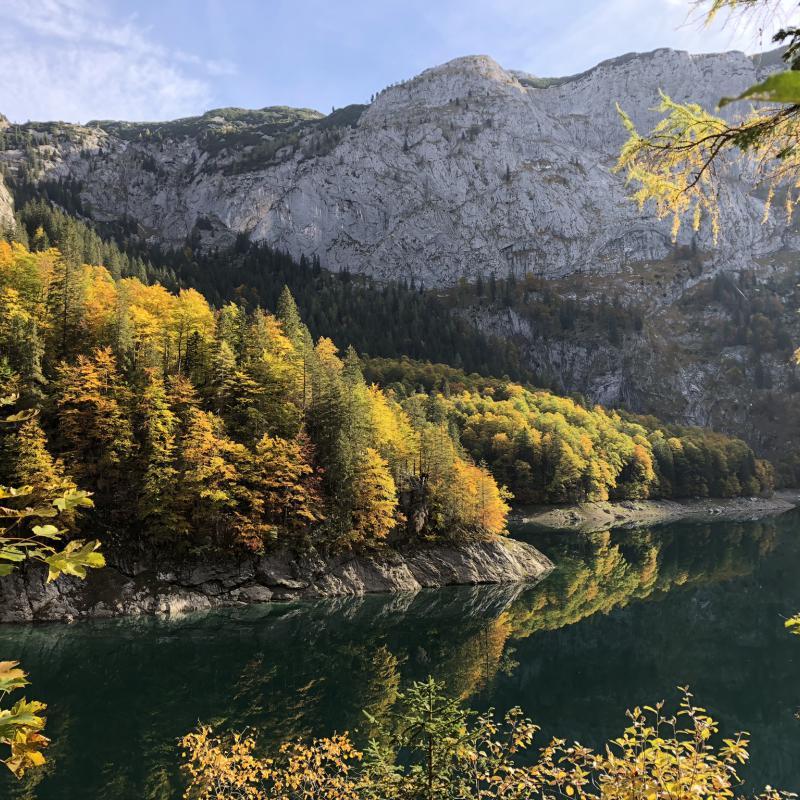 Berge, See, Herbst