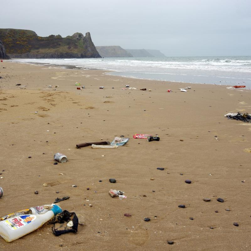 Plastik Meer Strand