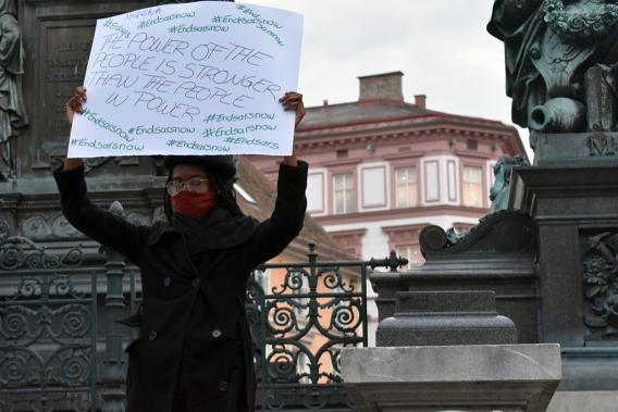 End SARS Demo in Graz