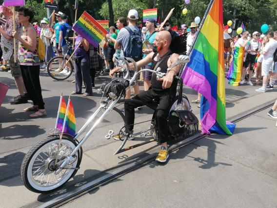 Vienna Pride 2021 Biker
