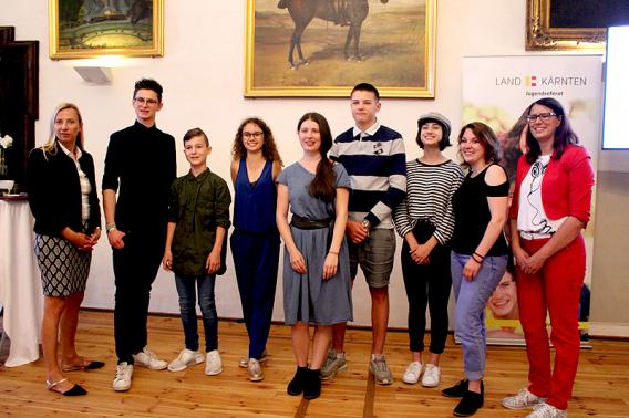Gruppenfoto der GewinnerInnen