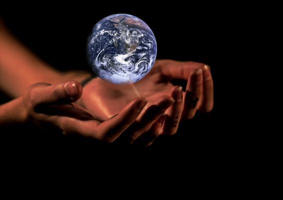 Hände Weltkugel