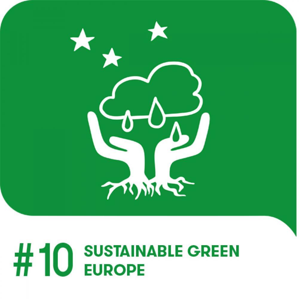 Youth Goal 10 Icon auf grünem Hintergrund