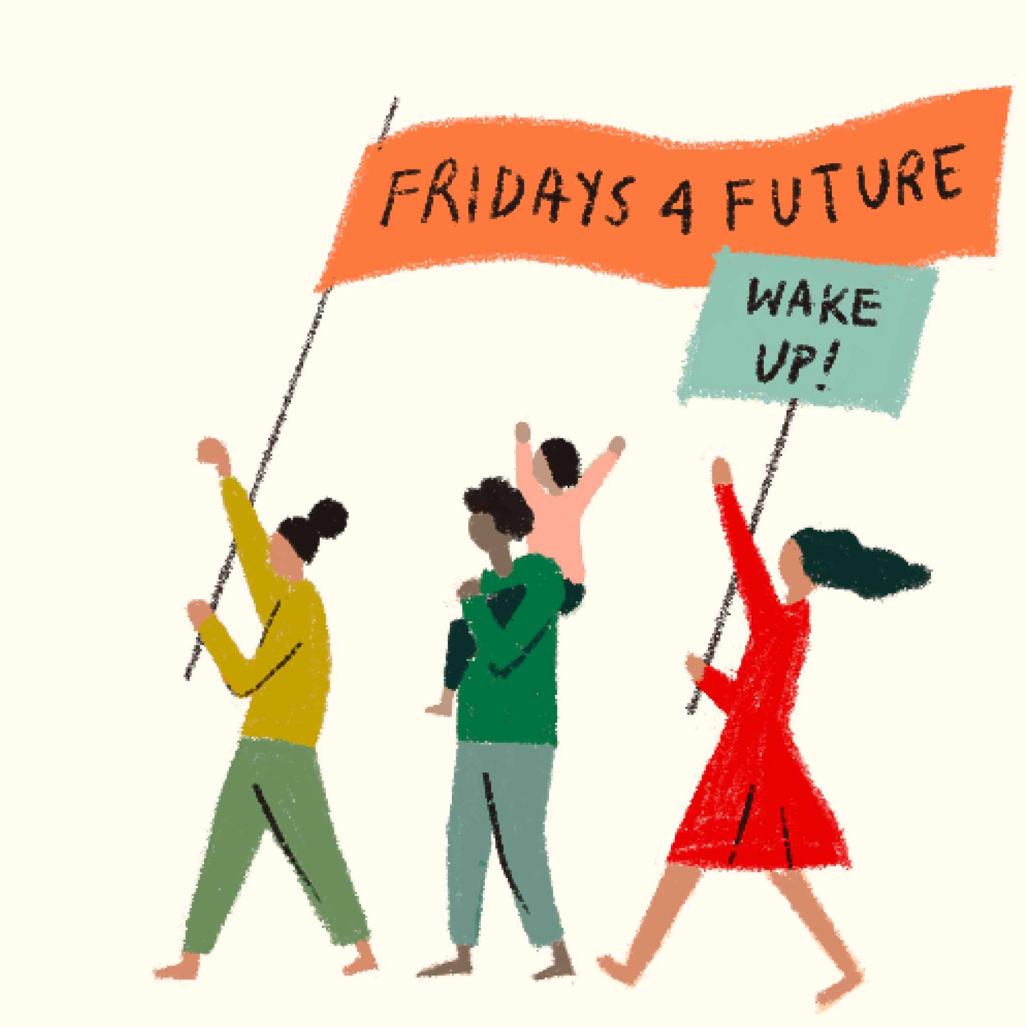 "Protestierende ""Fridays for Future"""